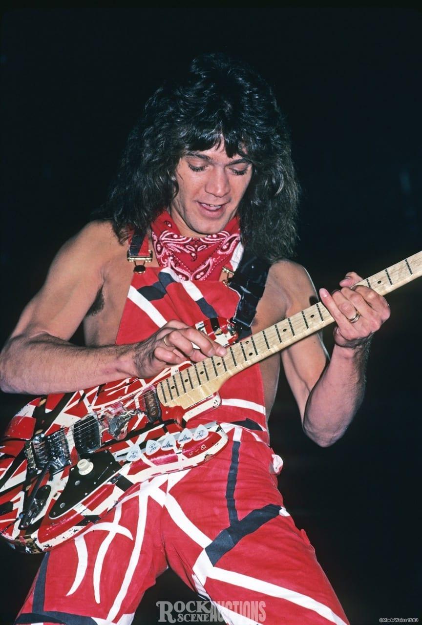 Eddie Van Halen 1983 Rock Scene Auctions